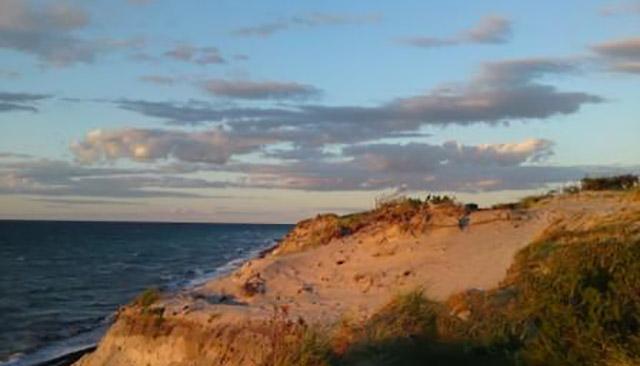 Abend an der Steilküste